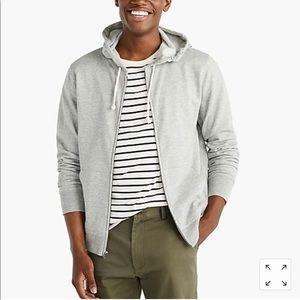 J Crew Men's Brushed Vintage Fleece Zip Up